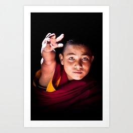 Young Buddhist Monk Art Print