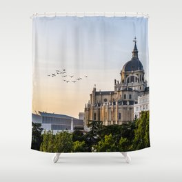 Almudena cathedral of Madrid Shower Curtain