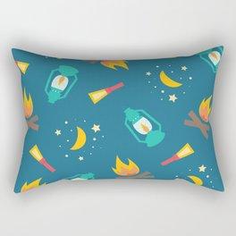 Camping Night Lights Rectangular Pillow