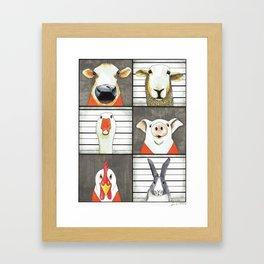 The Farmyard Gang Framed Art Print
