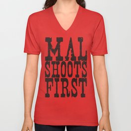 Mal Shoots First Unisex V-Neck