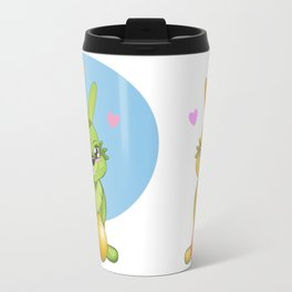 Green Easter Bunny & egg Travel Mug