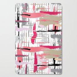 Pink Brushstroke Cutting Board