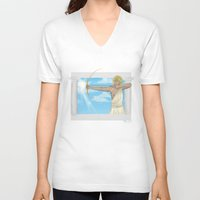 apollo V-neck T-shirts featuring Apollo by Khrow