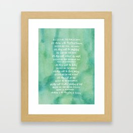 The Beatitudes Framed Art Print