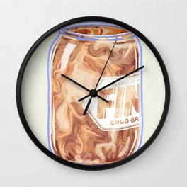 Cold Brew Wall Clock