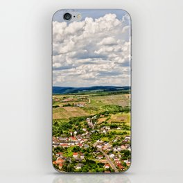 Panorama view on the small german village iPhone Skin