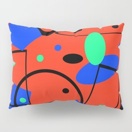 Retro abstract red print Pillow Sham