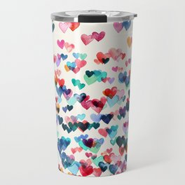 Heart Connections - watercolor painting Travel Mug
