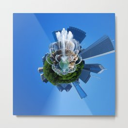 Little Planet of Chicago Metal Print
