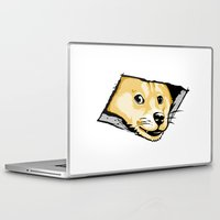 doge Laptop & iPad Skins featuring Ceiling Doge by Jimiyo
