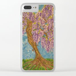 Wisteria Clear iPhone Case