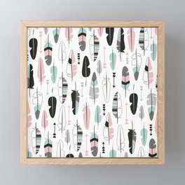 Arrows and feathers summer pattern Framed Mini Art Print