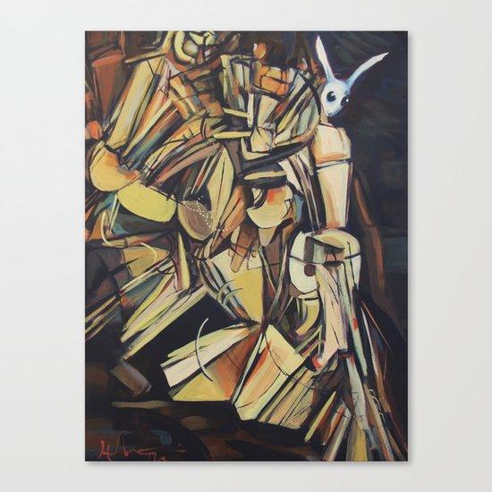Rabbit Descending A Staircase Canvas Print