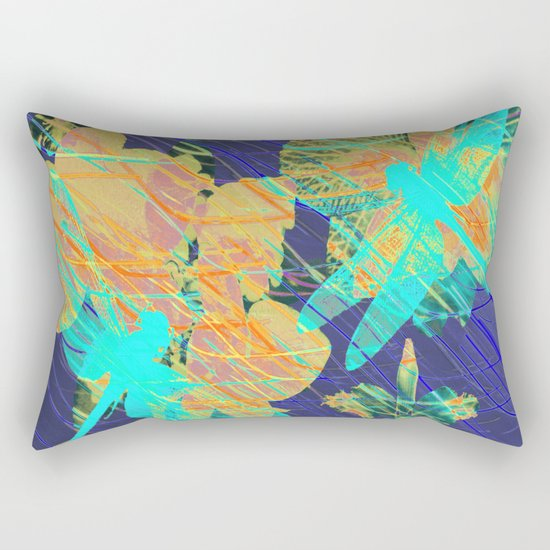 Colorful Dragonflies QD Rectangular Pillow