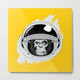 Monkey in white space Metal Print