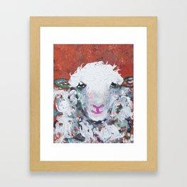 Sheep with Attitude Framed Art Print