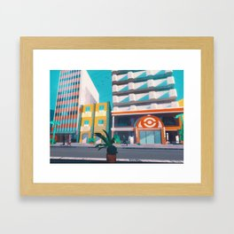 Celadon City - Kanto in real life Framed Art Print