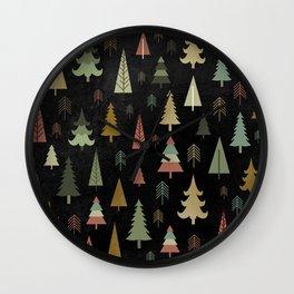 Chalkboard Christmas Pattern 02 Wall Clock