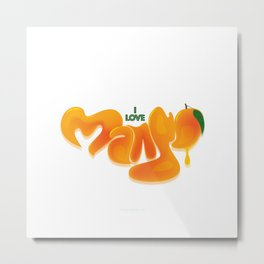 I Love Mango Metal Print