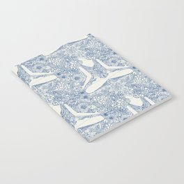 lotus garden vintage blue Notebook