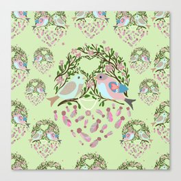 Love is in the air Spring Birds 06 Canvas Print