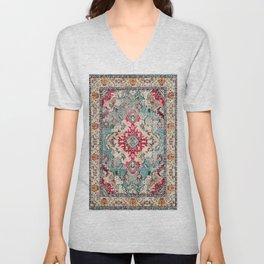 N132 - Heritage Oriental Traditional Vintage Moroccan Style Design Unisex V-Neck