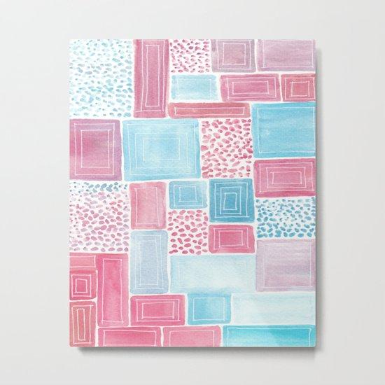 Geometric improvisation Metal Print