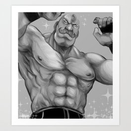 Major Alex Louis Armstrong - Black and White Art Print