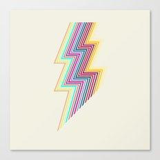 80's lightning Canvas Print