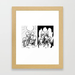 Heaven and Hell Framed Art Print
