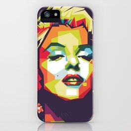 Marylin monroe in wpap pop art portrait iPhone Case