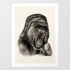 Gorilla Ink Art Print