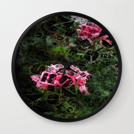 Pink Roses in Anzures 5  Letters 4 Wall Clock