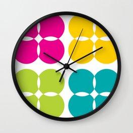 Colorful Bejeweled Circles Wall Clock