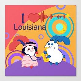 Ernest and Coraline | I love Louisiana Canvas Print