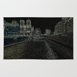 Notre Dame in Background Rug