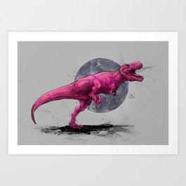 Pink 6T-Rex Art Print