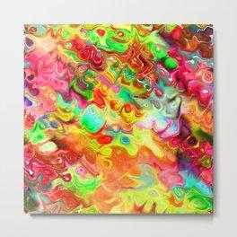 Liquid Watercolor Blend Metal Print
