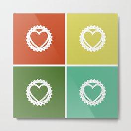 Bike Love Metal Print