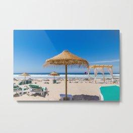 Flat Earth Beach Metal Print