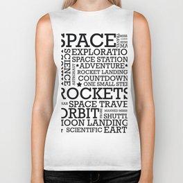 Space Text inspirational poster. Biker Tank