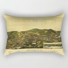 Aerial View of Milton, New Hampshire (1888) Rectangular Pillow