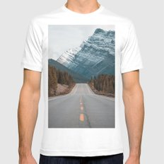 Rustic road #mountains #society6 MEDIUM White Mens Fitted Tee