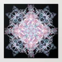 snowflake Canvas Prints featuring Snowflake. by Assiyam