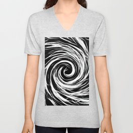 Future Abstract Spiral -Black and White- Unisex V-Neck