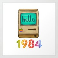 1984 Art Prints featuring 1984 by Laura Wood