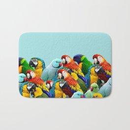 Sky blue parrots home decor Bath Mat