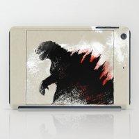 godzilla iPad Cases featuring Godzilla by Sabine Israel