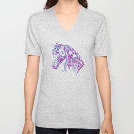 Chiseled Pink Horse Unisex V-Neck